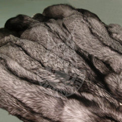 Fox pelt dressed (Silvery black)