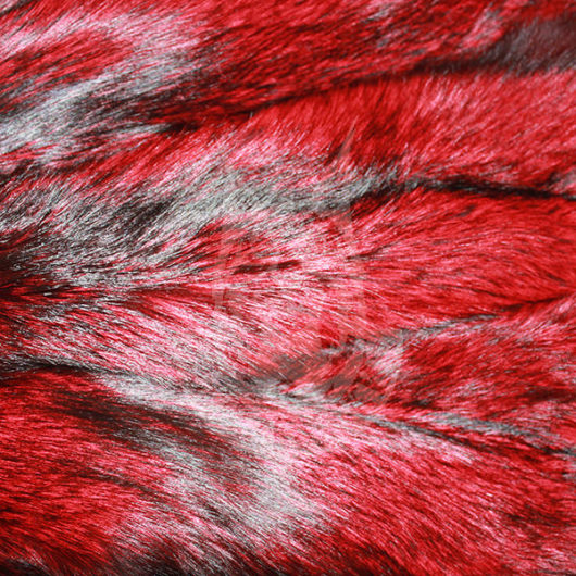 Шкурки лисицы выделанные, окрашенные (Красная)