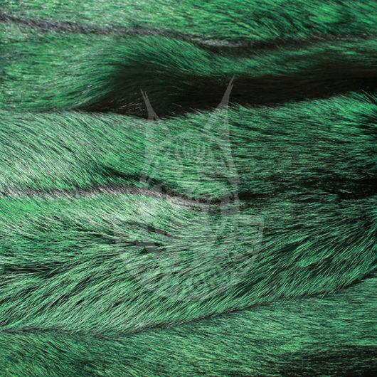 Шкурки лисицы выделанные, окрашенные (Зелёная)